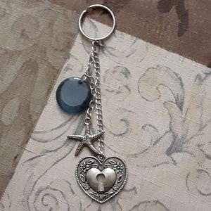 Keychain - love the beach